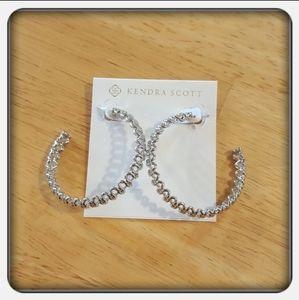 NWOT Kendra Scott Silver Fallyn Hoop Earrings